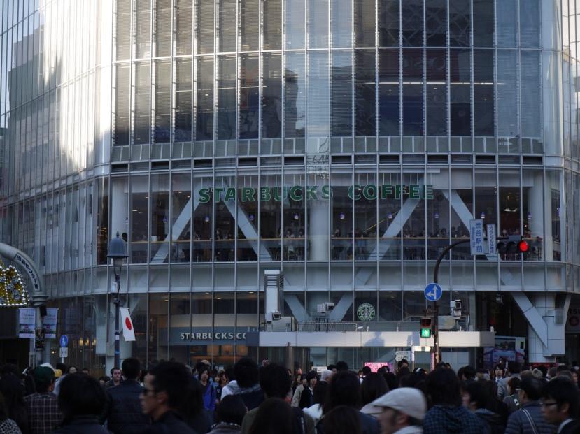 Starbucks at Shibuya Crossing