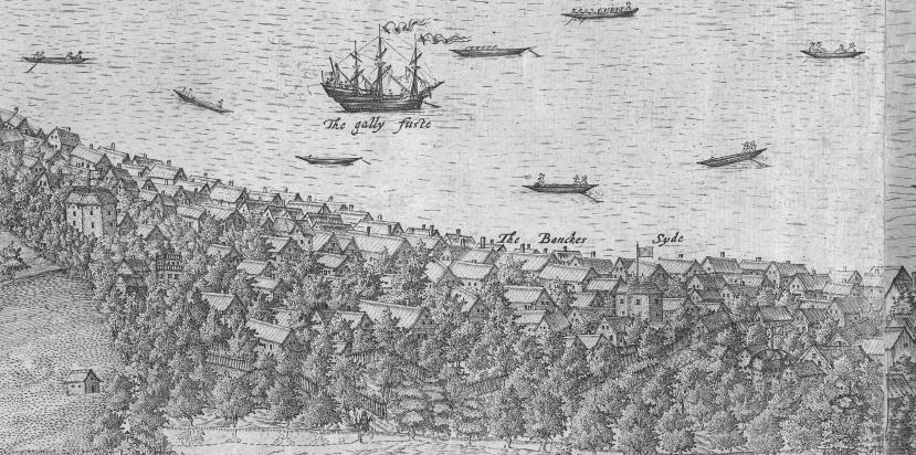 John Norden London panorama of 1600