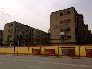 Concrete-box housing from the '70s-'80s that still survives in many backwater cities (this from Zhengzhou).