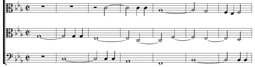 Opening theme from Jenkins' Fantasy No. 7