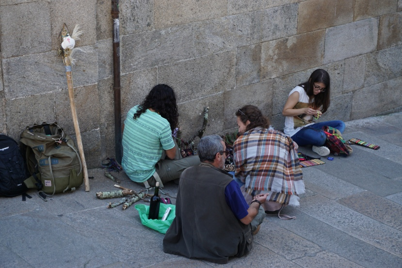 Pilgrims at Santiago de Compostela