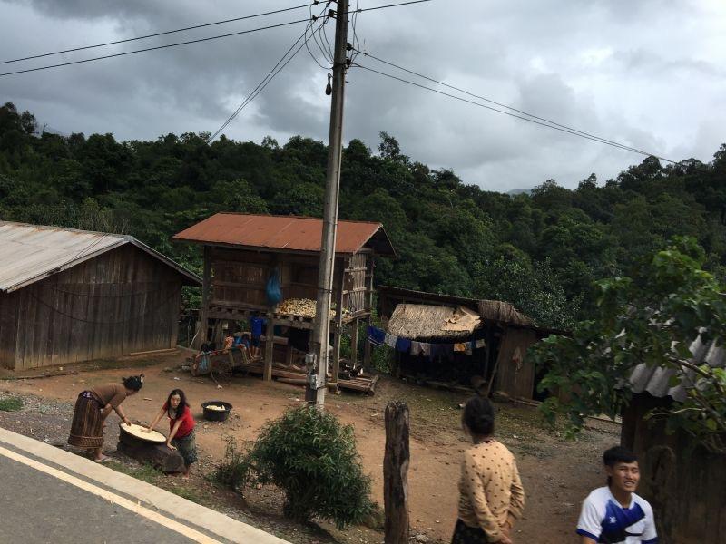 Mountain village in Laos