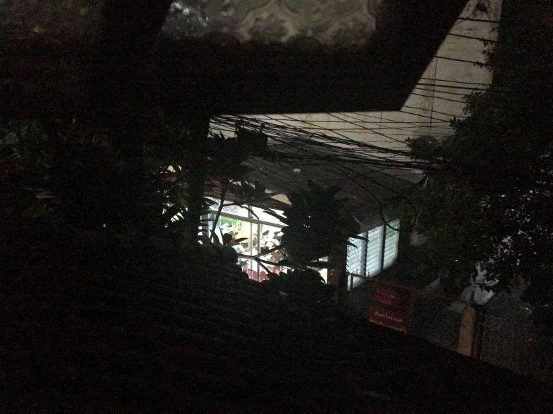 Chiang Mai massage shop at night