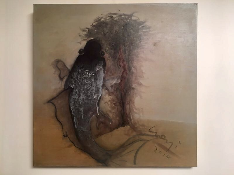 Fish-vulva painting by Luo Yi