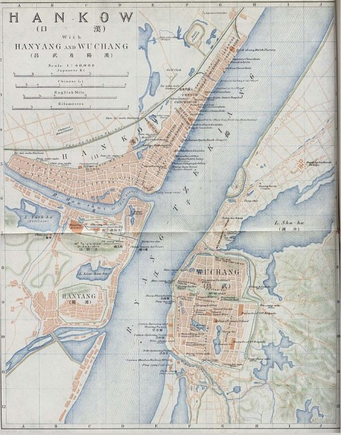 map of Hankow, 1915.